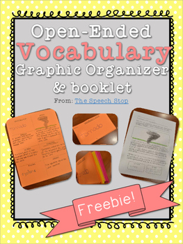FREE Vocabulary Graphic Organizer Booklet