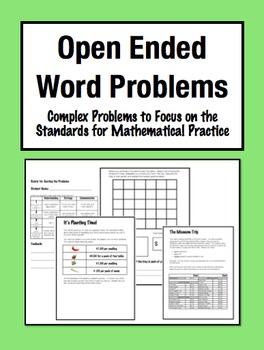 Open Ended Word Problems: Complex, Multi-Step Challenges (Grade 3-5)