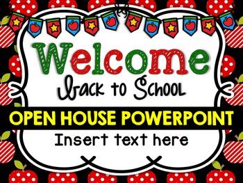 Open House Powerpoint Editable