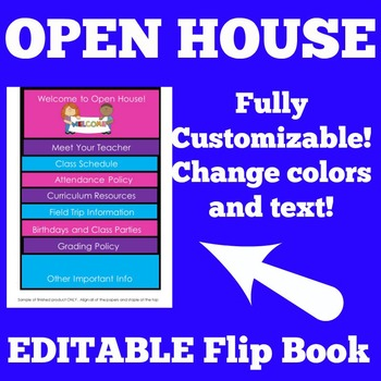 Open House   Open House Flip Book   Open House Editable Flip Book