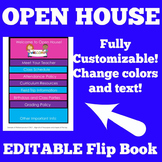 Open House Flip Book Editable Template