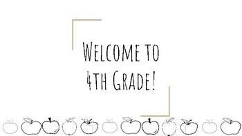 Open House 4th Grade Welcome Slide Apples