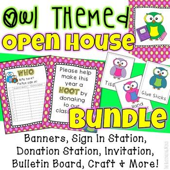 Open House Activities Bundle {Owl Theme}