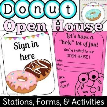 Open House Activities {Donut Theme}