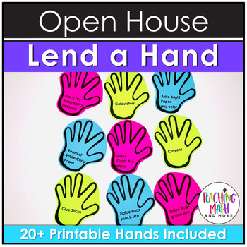 Open House Activity: Lend a Hand for Classroom Donations