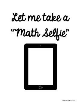 Open House Activity: Math Selfie