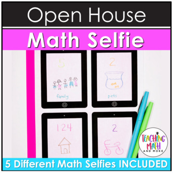 Math Selfie Activity | All About Me Selfie Activity Open House