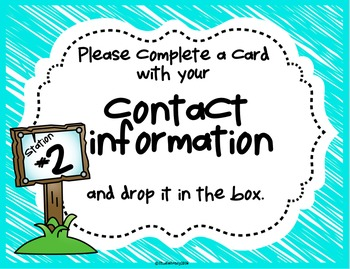 Open House Activity: Stations and Info Forms (Camping/Outdoor Theme)