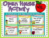 Open House Activity: Stations and Info Forms (Primary Colo