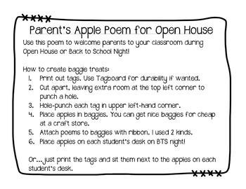 Open House Apple Poem