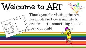Open House Art Activity
