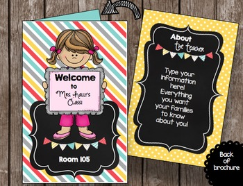 Open House - Back to School - BUNDLE - Editable Forms