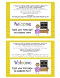 Open House Back to School Goodie Bag Bag Toppers (Editable - 2 Versions)