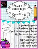 Open House & Back to School Night