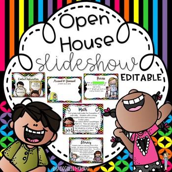 Back to School Night  - Open House -Neon Editable PowerPoint Slideshow