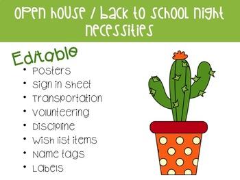 Open House /Meet the Teacher/ Back to School Night Necessities
