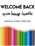 Open House/ Back to School Night Stations and Forms Bundle