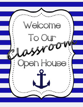 Open House/Back to School Packet - Sailor Theme