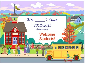 Open House Back to School Powerpoint