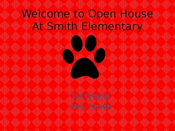Open House- Back to School Powerpoint