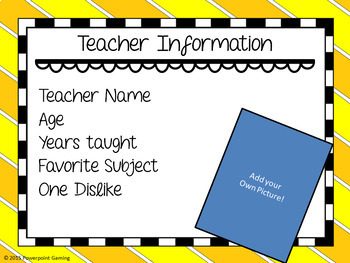 Open House - Back to School Presentation