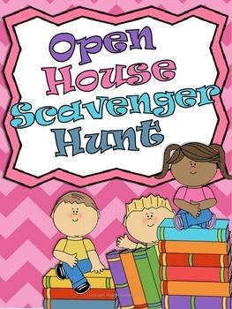 Open House *Back to School* Scavenger Hunt