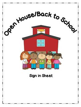 Open House / Back to School Sign-in Sheet