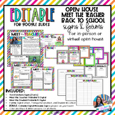 Open House   Back to School Signs & Forms   Editable with Google Slides
