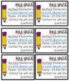 Open House/ Back to School Teacher Info Cards- EDITABLE