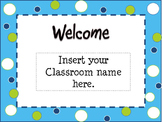 Open House Blue, Green, White  Powerpoint Template