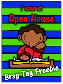 Open House Brag Tag Freebie