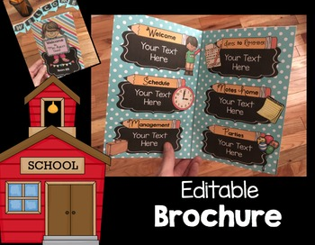 Open House Brochure - Back to School - EDITABLE