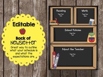 Open House Brochure - EDITABLE - Welcome to Kindergarten - Newsletter