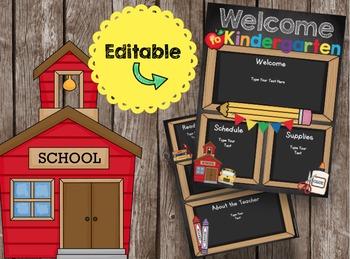 Open House Brochure - EDITABLE - Welcome to Kindergarten -