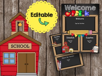 Open House Brochure - EDITABLE - Welcome to PreK - Newsletter