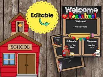 Open House Brochure - EDITABLE - Welcome to Preschool - Ne