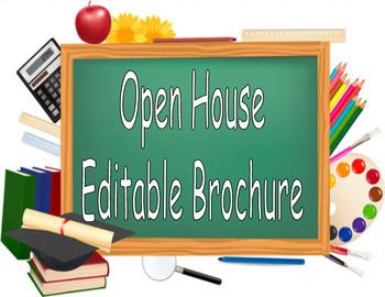 Open House Brochure (Editable)