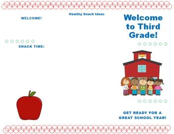 Editable Brochure Template Open House Teaching Resources Teachers