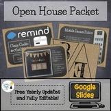 Open House Bundle! Burlap & Chalkboard - Editable in Googl