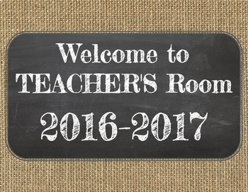 Open House Bundle! Burlap & Chalkboard - Editable in Google Slides!