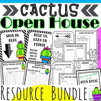 Open House Activities Bundle {Cactus Theme}