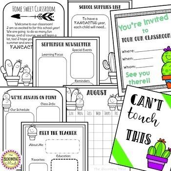 Open House Activities Bundle {Cactus Theme}