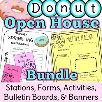 Open House Activities Bundle {Donut Themed Stations and Decor}