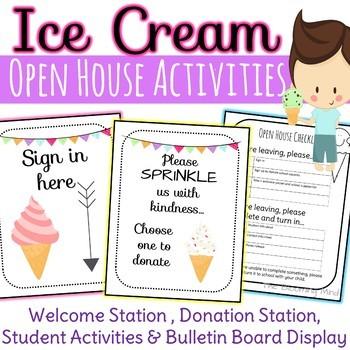 Open House or Meet the Teacher Bundle {Ice Cream Theme}