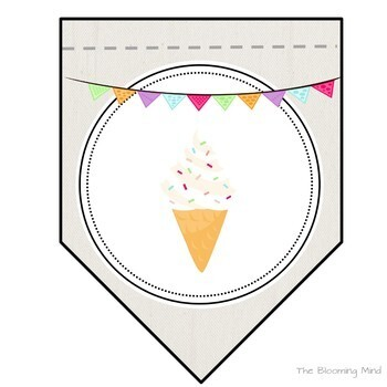 Open House Bundle {Ice Cream Theme Stations and Decor}