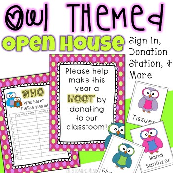 Open House Stations {Owl Themed}