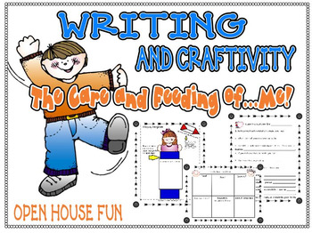 Beginning the Year/Open House: Care Instructions For Me! Special Writing Project