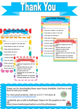Open House Checklists