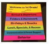 Open House Class Info Flip Book