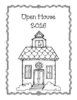 Open House Cover Sheet